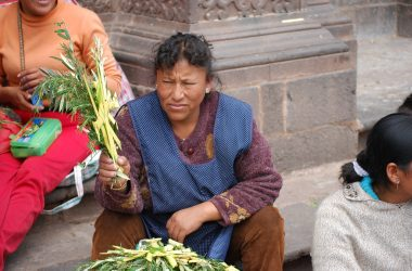 Selling Crosses of Palm Frond and Rosemary, Cuzco