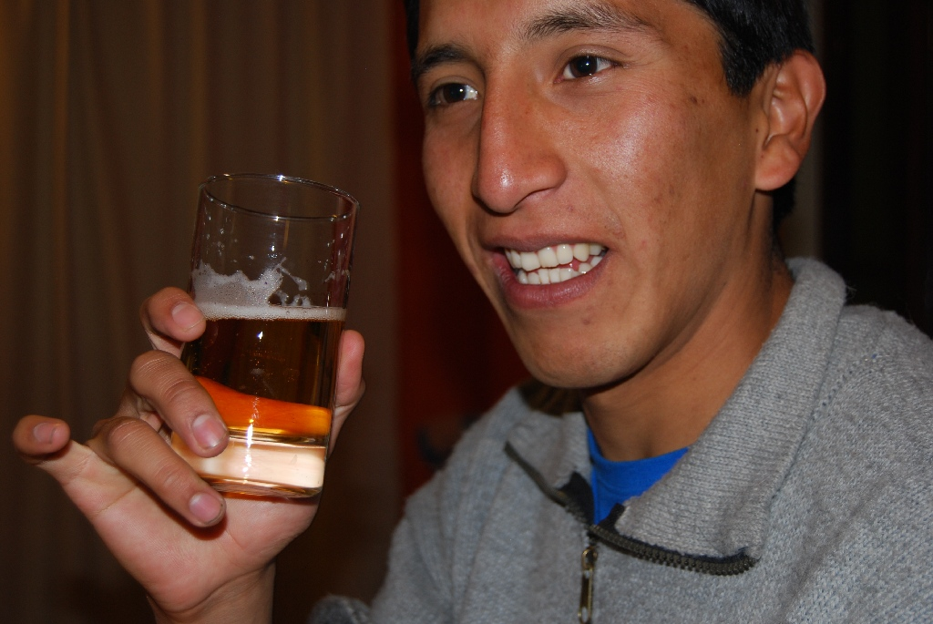 Cheers and Cuzqueña Beer