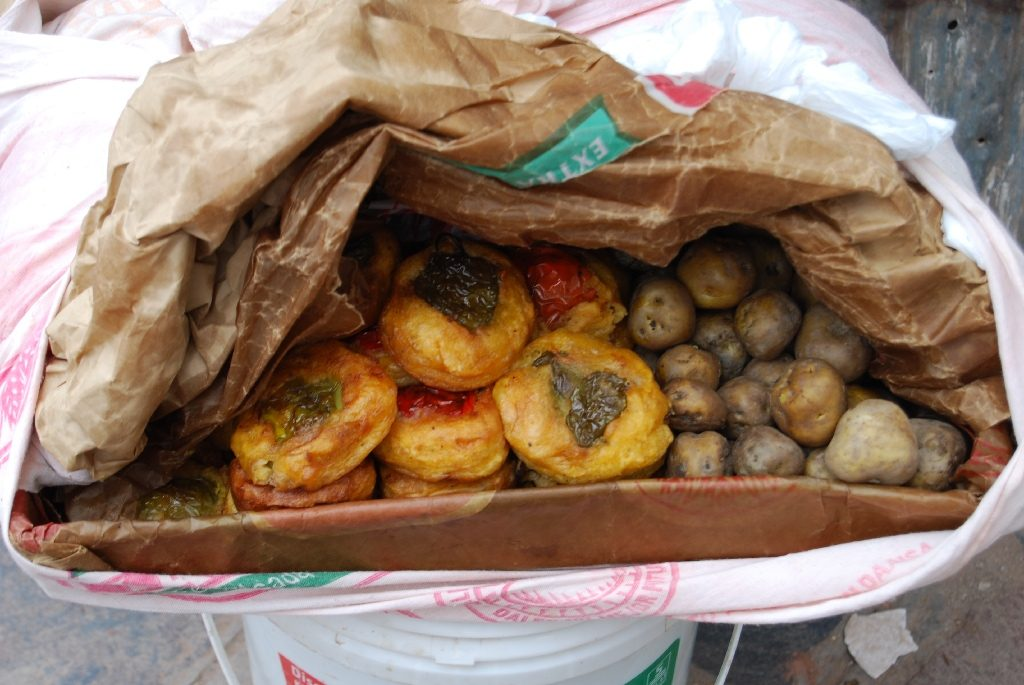 Stuffed Rocotos and Baked Potatoes on the Street, Cuzco