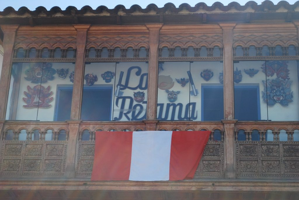 Peruvian Flag in Cuzco