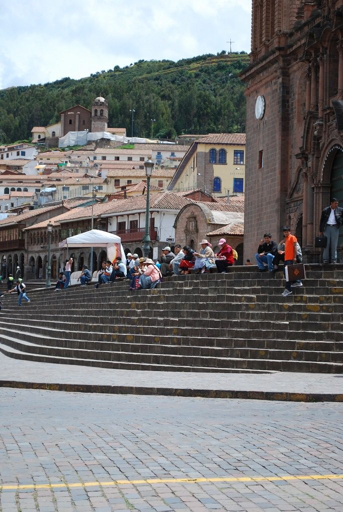 Cusco, Cuzco looking over the Cathedral's Steps