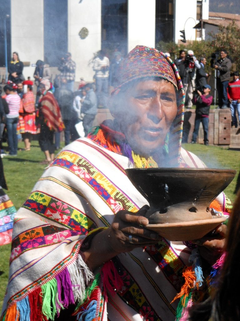 Smudging in the Ceremony