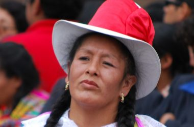 Woman from Cuzco Dancing in Traditional Chola Dress