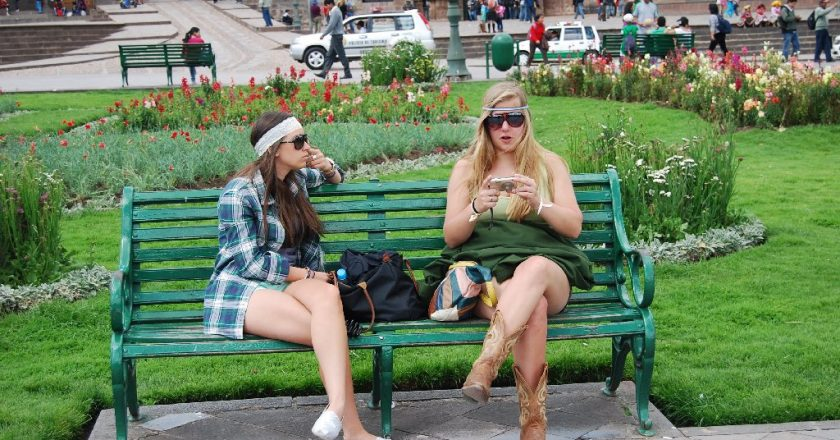 Tourists Enjoying Cuzco's Plaza de Armas
