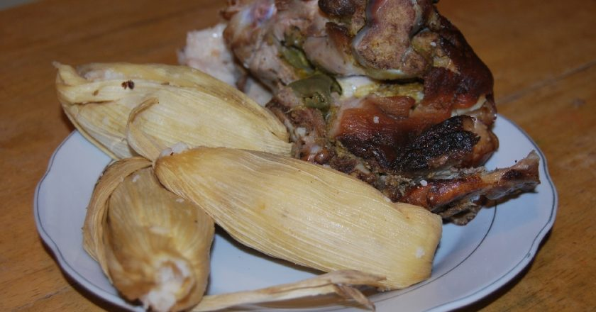Lechón and Tamales in Cuzco