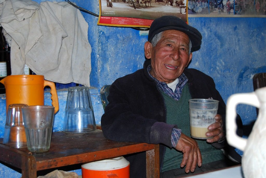 Image of a Typical Man Drinking Chicha