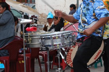 Kapero Playing Snares and Dancing while Enjoying the Fiesta