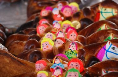 Breads Decorated with Children and Horse Faces