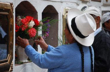 Flowers for Deads in Cuzco's Cemetery