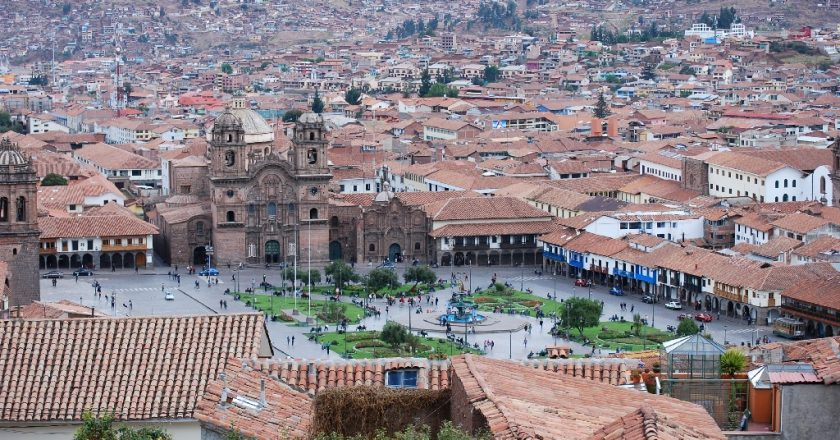 View of the Plaza de Armas from San Cristobal