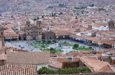 Plaza de Armas Cuzco, View from San Cristobal