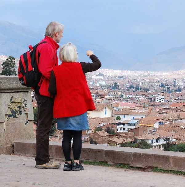 Tourist in San Cristobal Overlook