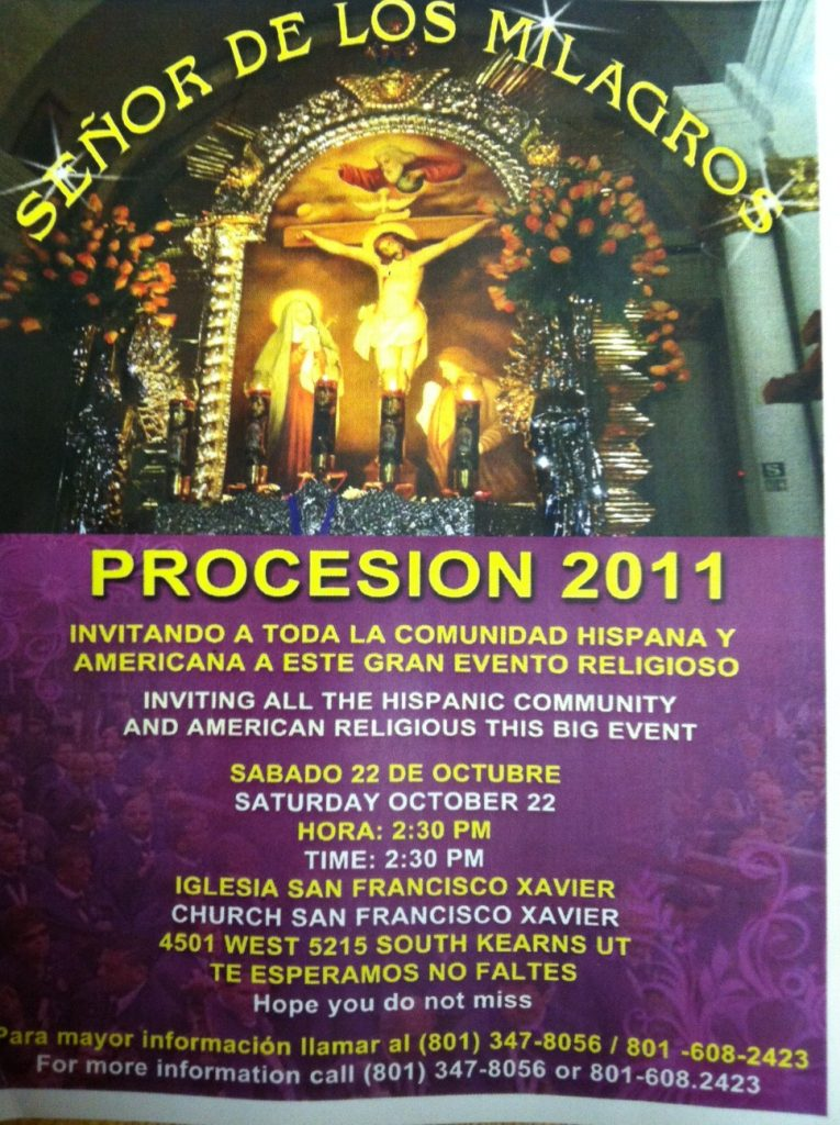 Flyer for Lord of MIracles Procession