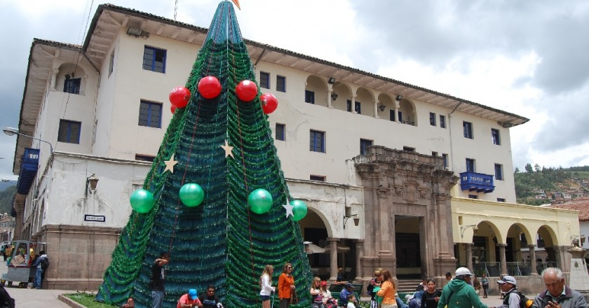 A Christmas Tree on the Plazoleta Espinar