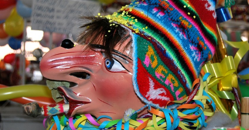 The Mask of a Compadre in San Pedro Market
