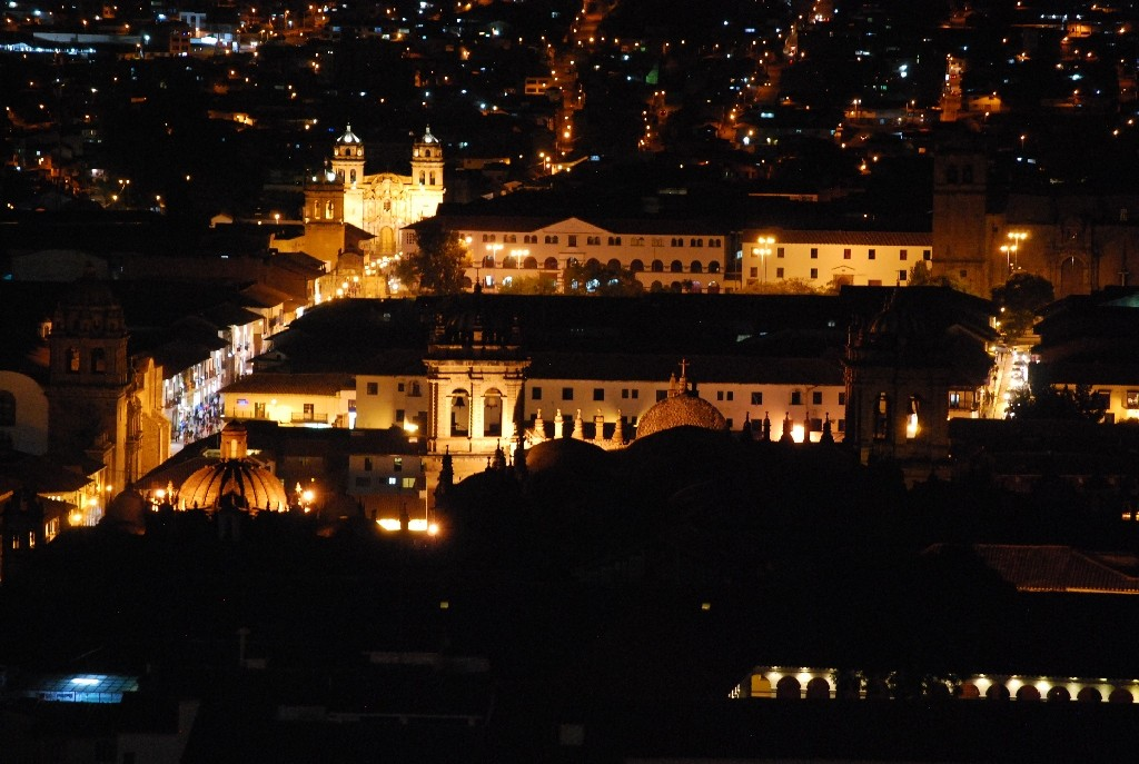 Cuzco by Night from Above