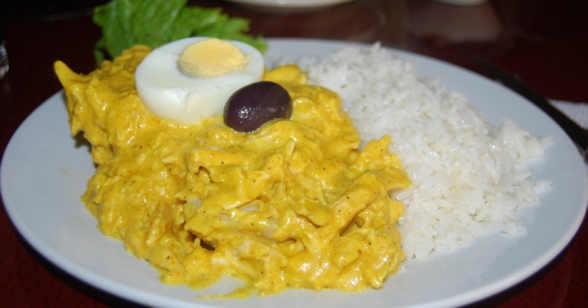 Aji de Gallina with Rice