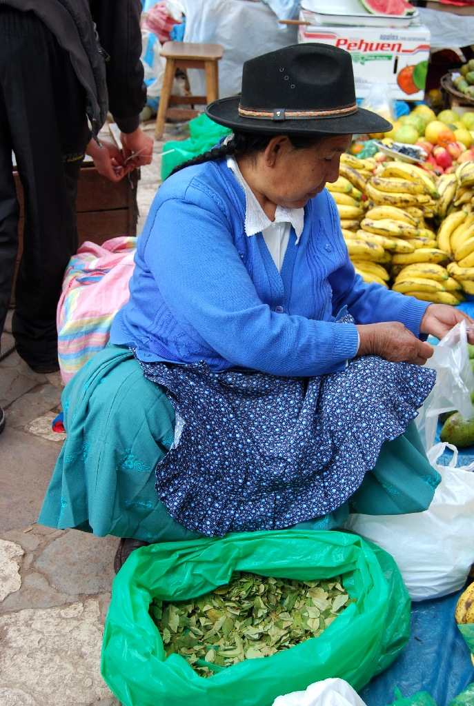 A Woman Selling Coca in Cuzco