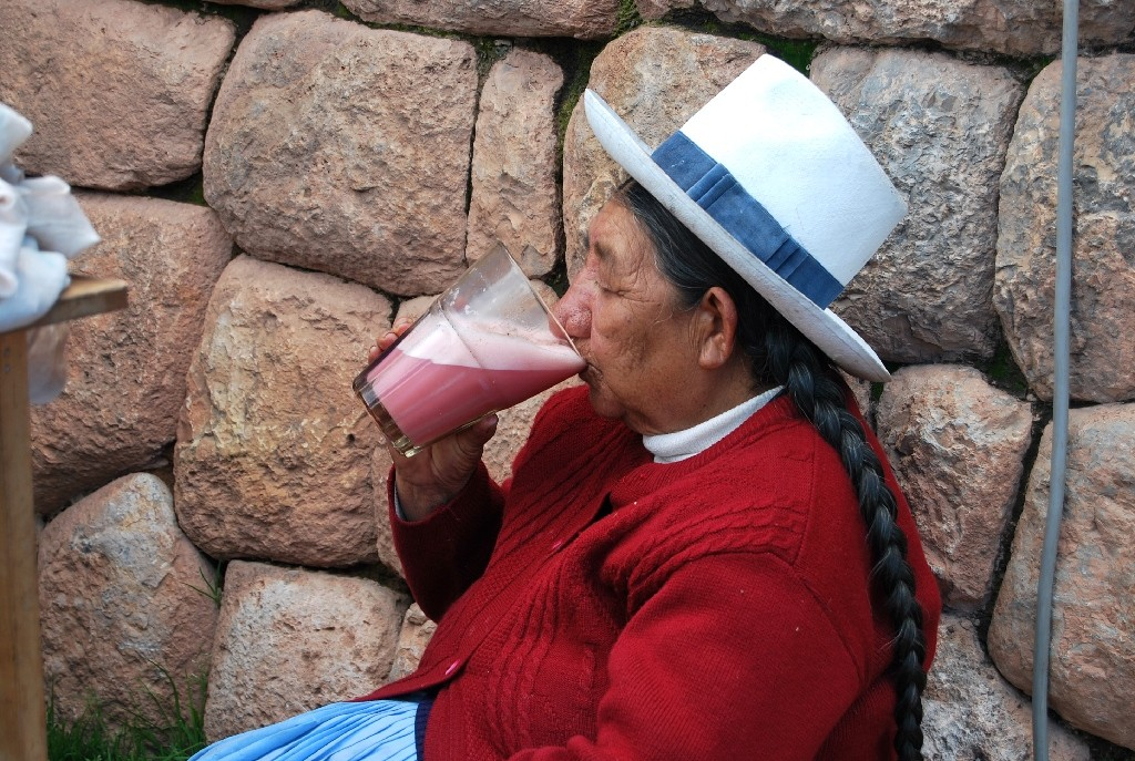 A Traditional Woman Enjoying a Frutilladas