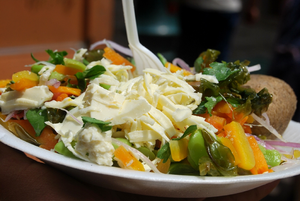 Soltero a Traditional Dish with Vegetables and Cheesse