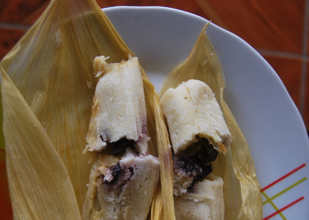 Tamale from Cuzco with an Olive in the Filling