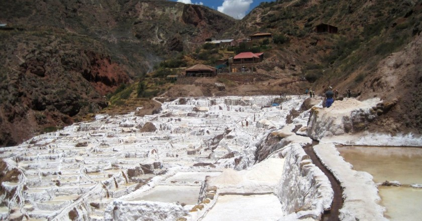 A View of the Salt Ponds of Maras