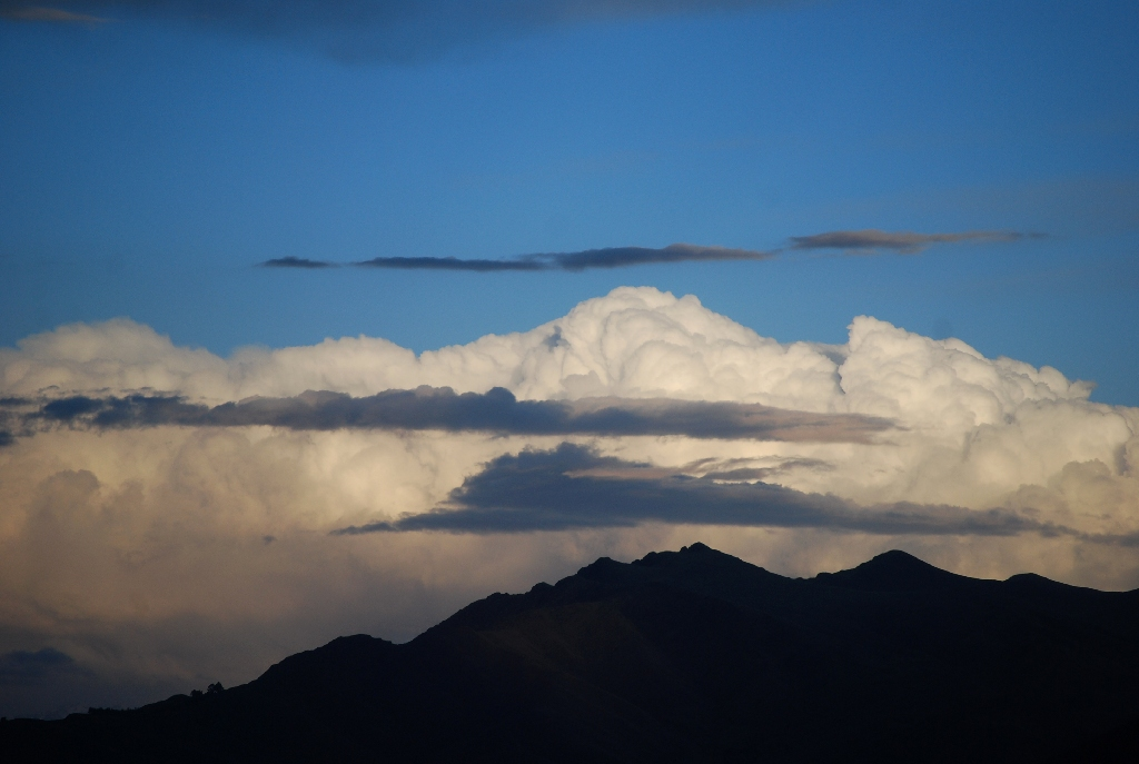 Rain Clouds Appear on Cuzco's Sky