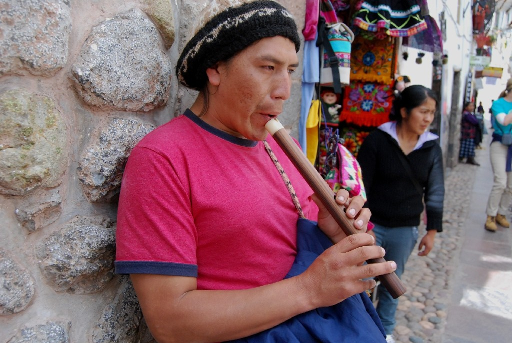Playing the Quena, an Andean Flute