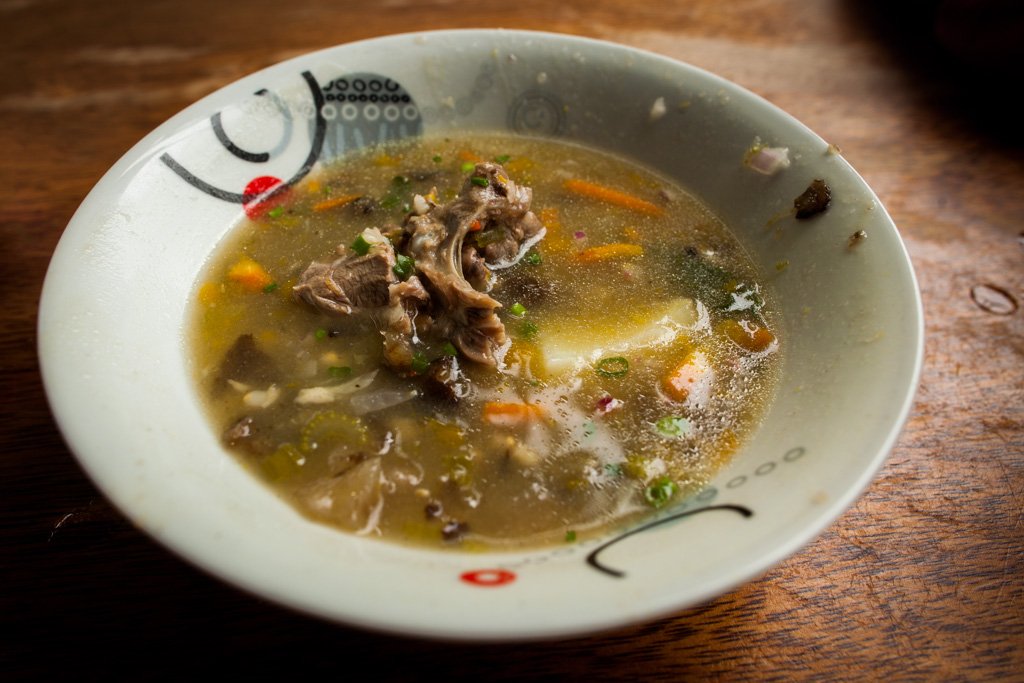 A Half-Finished Bowl of Chairo Soup