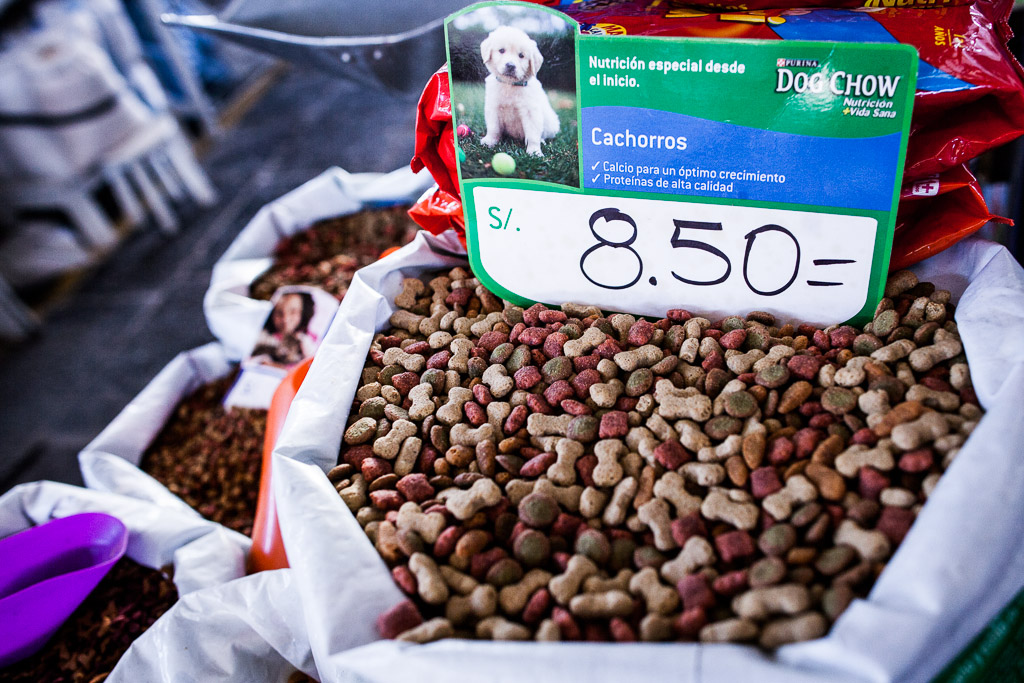 Canine Cuisine Section in the San Pedro Market