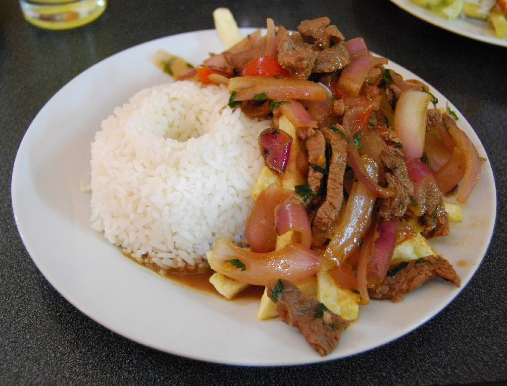 Lomo Saltado at a Popular Eatery in Lima