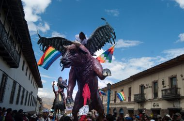 Bull and Condor in the Bellas Artes Parade (Photo: Arnol Fernadez Coraza)