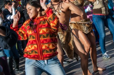 Flash Mob Dancing in Cuzco (Photo: Wayra)