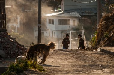 Boys, Dog, Dirt, and Dust In San Blas Neighborhood (Photo: Wayra)