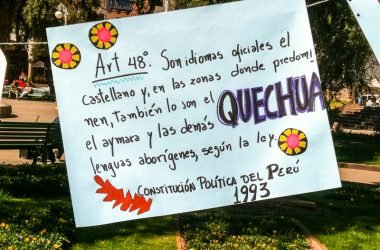 Quechua is Legal in Perú