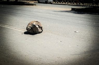 A Rock in the Street to Block Traffic (Photo: Brayan Coraza Morveli)