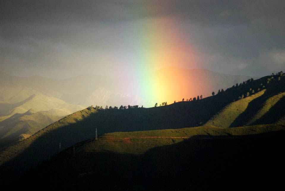Rainbow in cuzco.