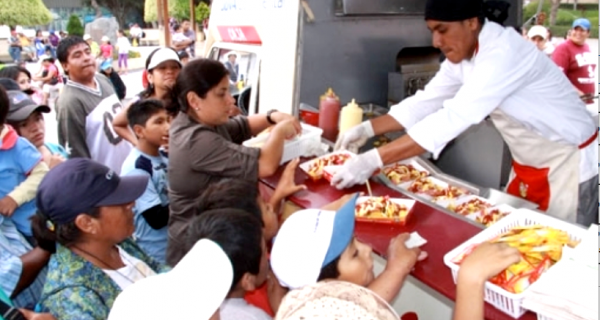One of the Many Food Carts in Lima
