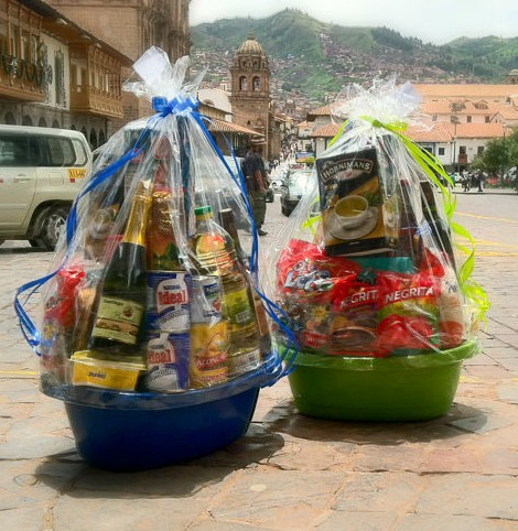 Holiday Basket Filled with Products