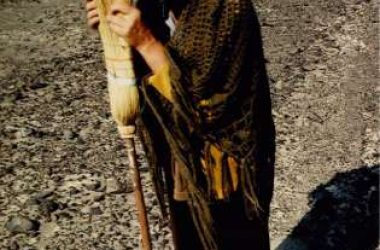 Maria Reiche and her Famous Broom in Nazca.