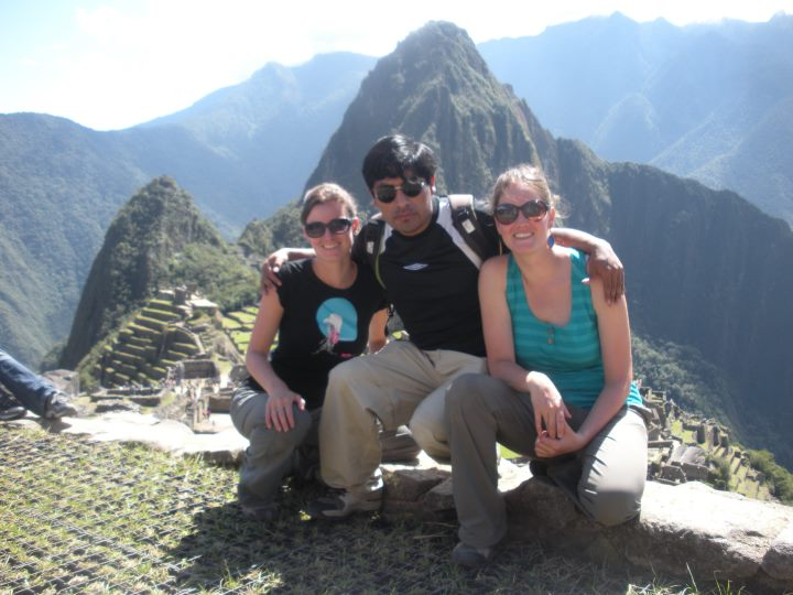 A Tourism Guide and Tourist in Machu Pichu