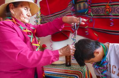 Feast and Dancing During the First Hair Cutting in Cuzco