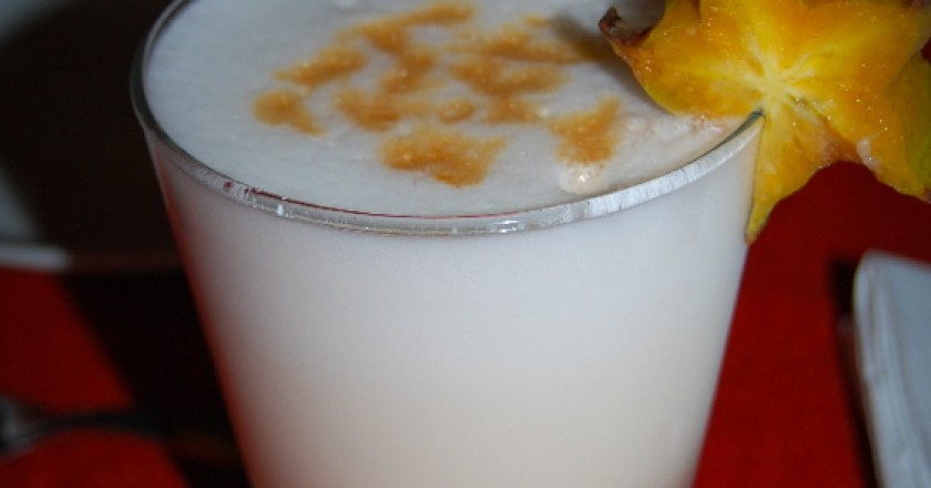 A Variant of the Pisco Sour made with Tumbo
