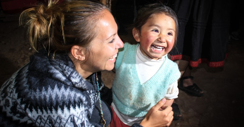 A lovely smile of a little girls from Cuzco