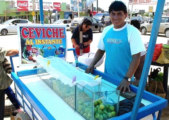 Ceviche of Pota on the Street