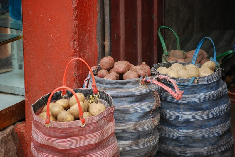 Potatoes Just in from the Campo, San Pedro Market Doors