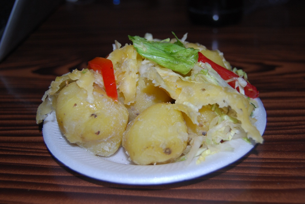 Potato Frozen with cheese season in Cuzco