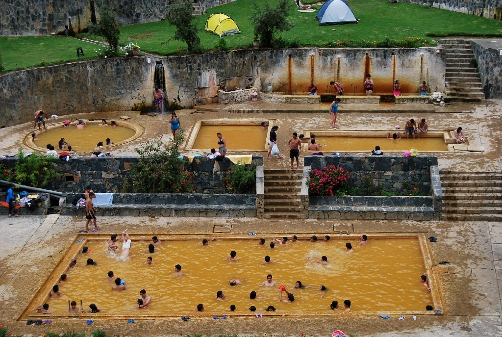 Bathing Pools of Warm Water in Lares