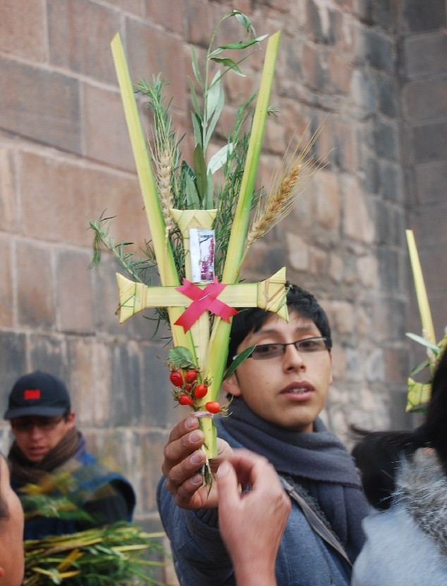 A Palm Cross for Holy Week