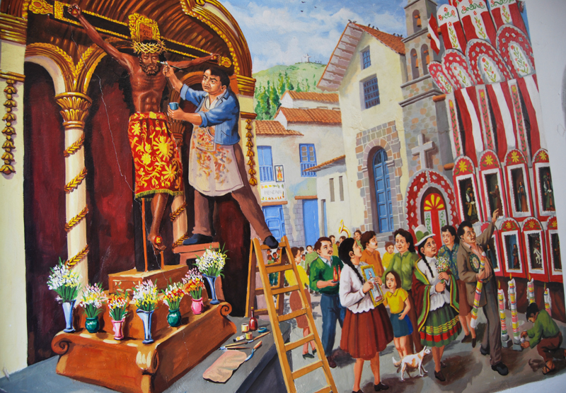 An Image of Cruz Velakuy Celebration (Walter Coraza Morveli)